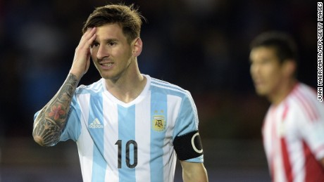 Captain Lionel Messi scored Argentina's second goal in the 2-2 draw against Paraguay in La Serena.