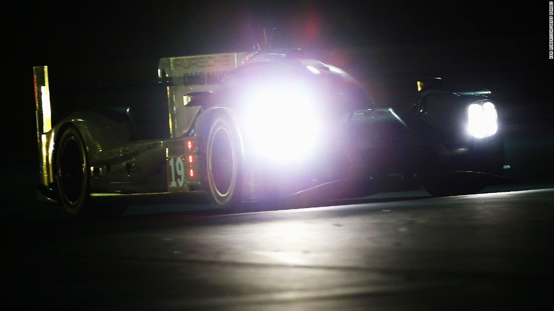 The three drivers in each car swapped stints at the wheel as darkness fell.