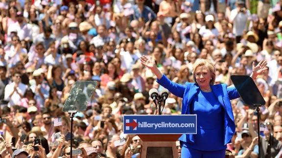 Former Secretary of State Hillary Clinton, Democrat