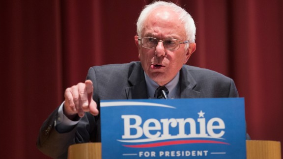 U.S. Sen. Bernie Sanders, independent from Vermont running for Democratic nomination