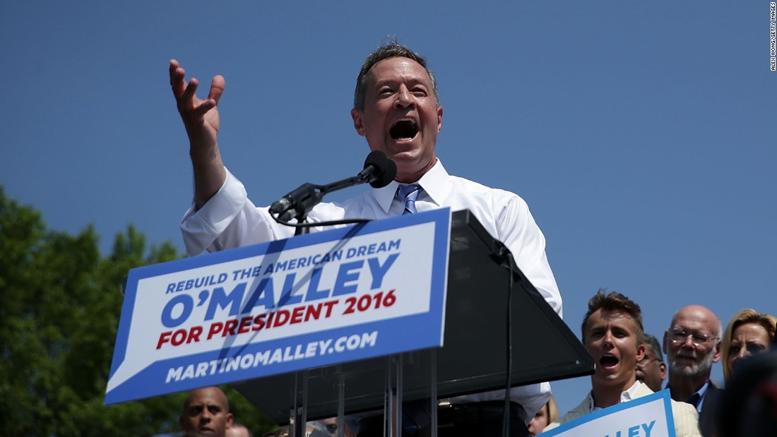 Former Gov. Martin O'Malley, D-Maryland, who has dropped out of the presidential race.