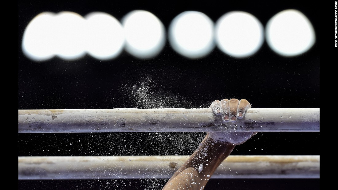 British gymnast Charlie Fellow competes on the parallel bars at the European Games on Monday, June 15.