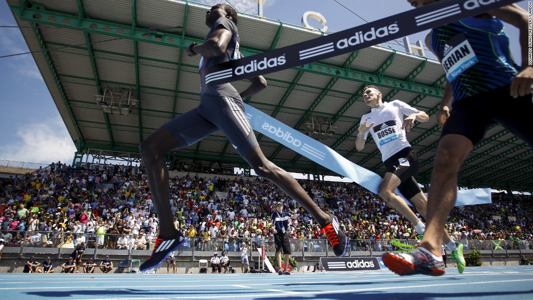 David Rudisha wins the 800 meters during the Diamond League meet in New York on Saturday, June 13. The Kenyan is the world-record holder in the 800.