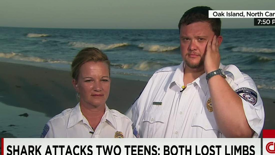 Teens Lose Limbs In Shark Attacks At Oak Island Beach Cnn