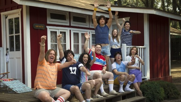 """This Netflix show brings back the cast of the 2001 film """"Wet Hot American Summer"""" for a prequel to the movie -- except that the characters are being played by the same actors. Hmm ... these teenagers REALLY look old. Janeane Garofalo, David Hyde Pierce and Paul Rudd are among the many performers to return. Debuts July 31."""
