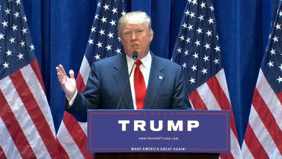 Real estate mogul Donald Trump, Republican