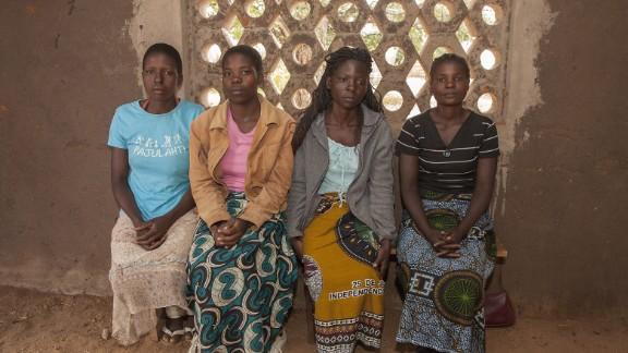L-R: Yvone Kambiza, Alinafe Naison, Catherine Julio Funsani and Katrina Kampingo, who were underage brides in Malawi.