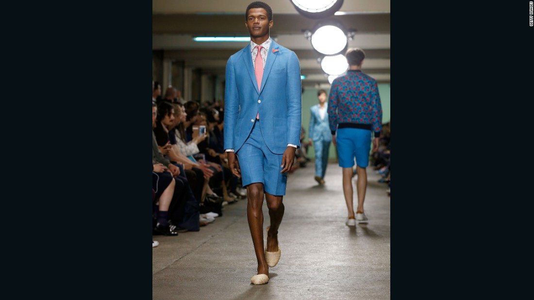 The man smart enough to slip into a Richard James suit knows that green won't take you through the entire season. Other looks included blue shorts paired with a blue blazer and a floral print jacket blooming in blue and red.