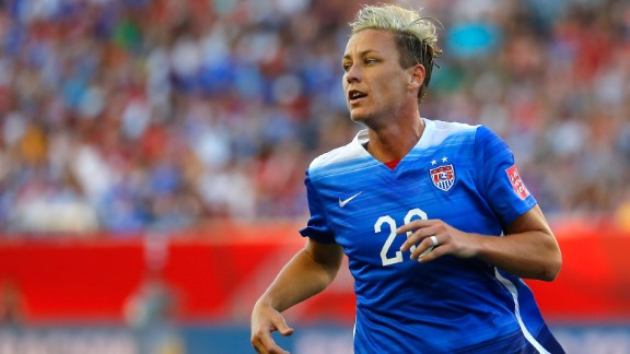 Wambach plays in the second half against Sweden.