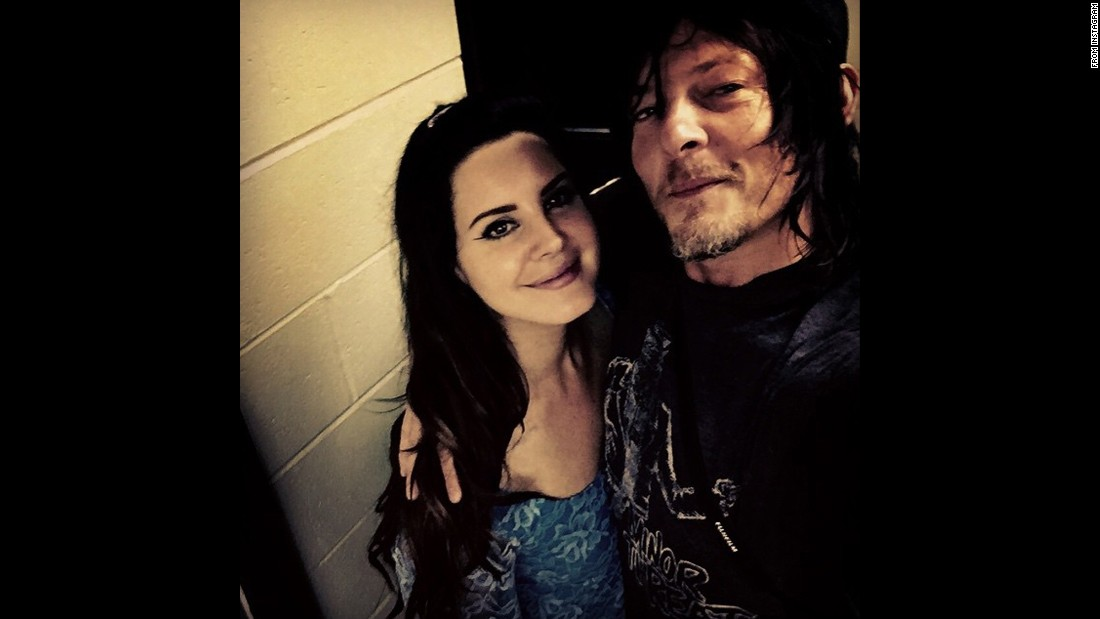 """Fun night,"" <a href=""https://instagram.com/p/38IID8scJB/"" target=""_blank"">wrote actor Norman Reedus</a> in this selfie he took with singer Lana Del Rey. He posted it to his Instagram account on Monday, June 15."
