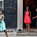 Malia Obama Sasha Obama London June 16, 2015
