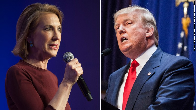 Donald Trump slams Carly Fiorina's business record