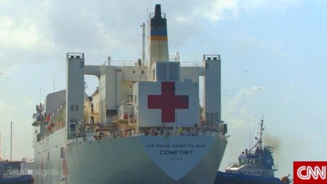Onboard the USNS Comfort.
