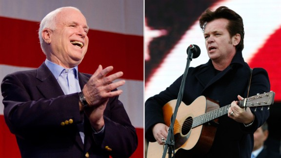 """John Mellencamp asked the McCain campaign to not use his songs """"Our Country"""" and """"Pink Houses"""" while campaigning."""