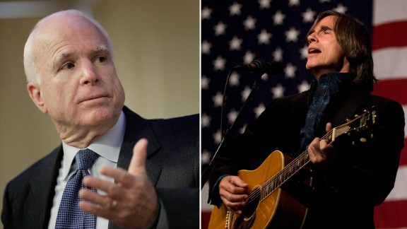 """McCain settled out of court with Jackson Browne for using his 1977 hit """"Running on Empty"""" in a campaign ad without the artist's permission."""