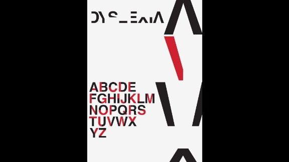 Britton used his background in graphic design and experience with the learning disorder to design the typeface.