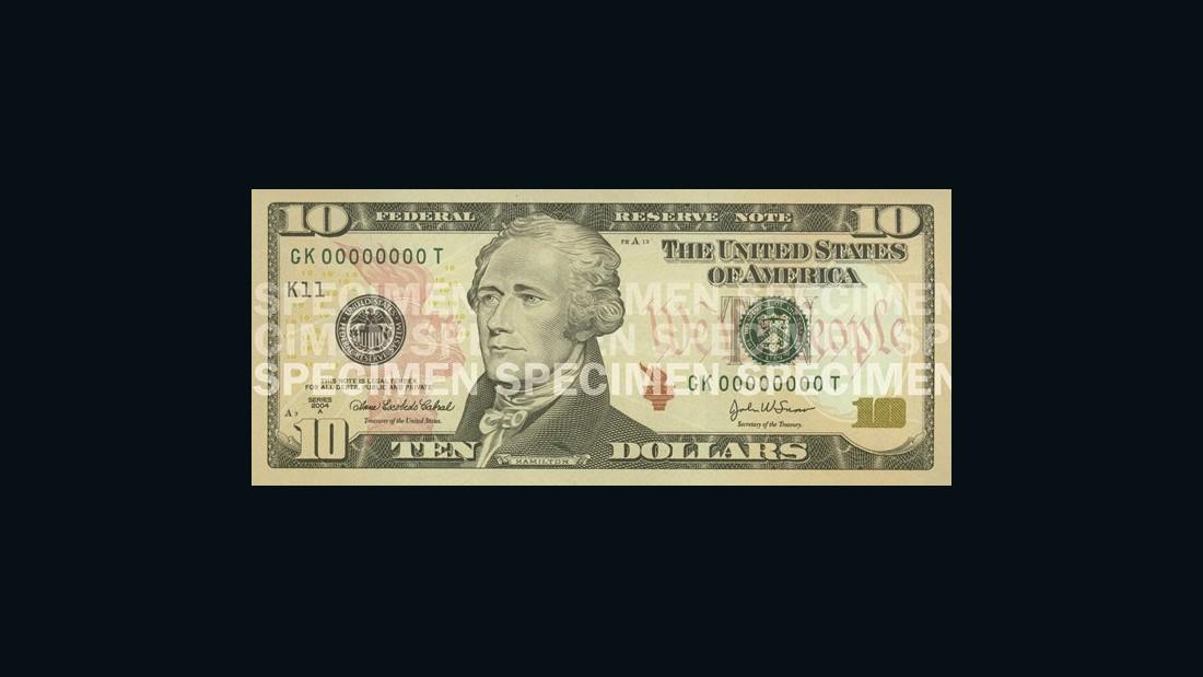 Evolution of the $10 bill