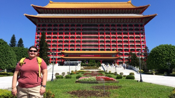 """2014, in front of the Grand Hotel in Taipei, Taiwan. You won't be seeing any of these pictures on Facebook or Instagram. This is me at my heaviest and hopefully, after this year, never again."""