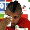Vidal crying