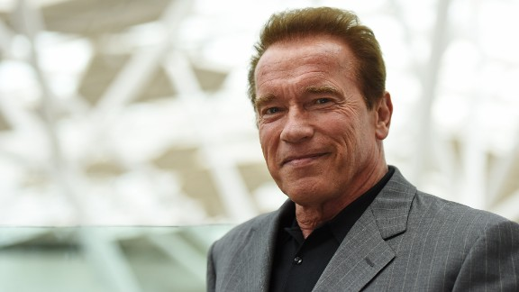 LONDON, ENGLAND - JUNE 17: Arnold Schwarzenegger attends the Fan Footage Event of
