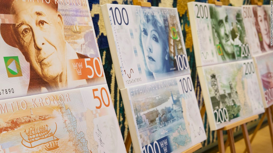 Legendary actress Greta Garbo will start appearing on Sweden's 100-krona note in October.