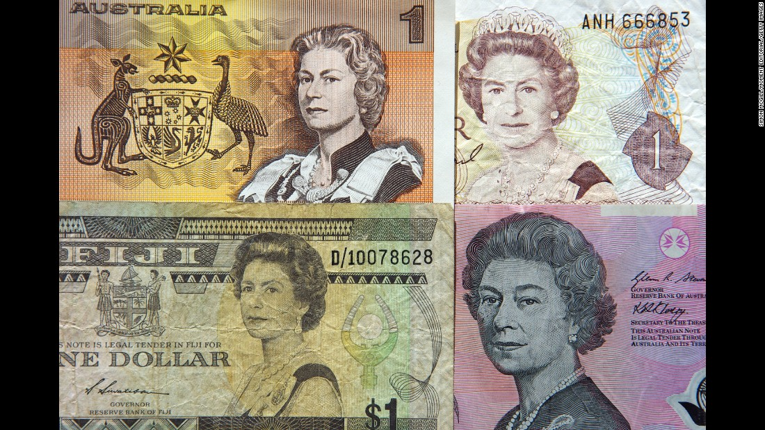 Queen Elizabeth II is prominently featured on the currencies of a number of Commonwealth countries, including the UK, Canada, Australia, New Zealand and Fiji.
