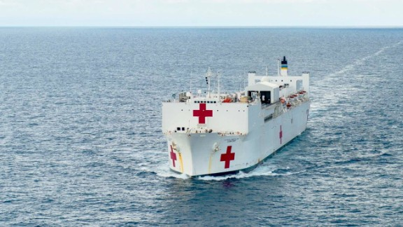With more than 700 medical personnel, 5,000 units of blood and 12 operating rooms, the USNS Comfort is the world