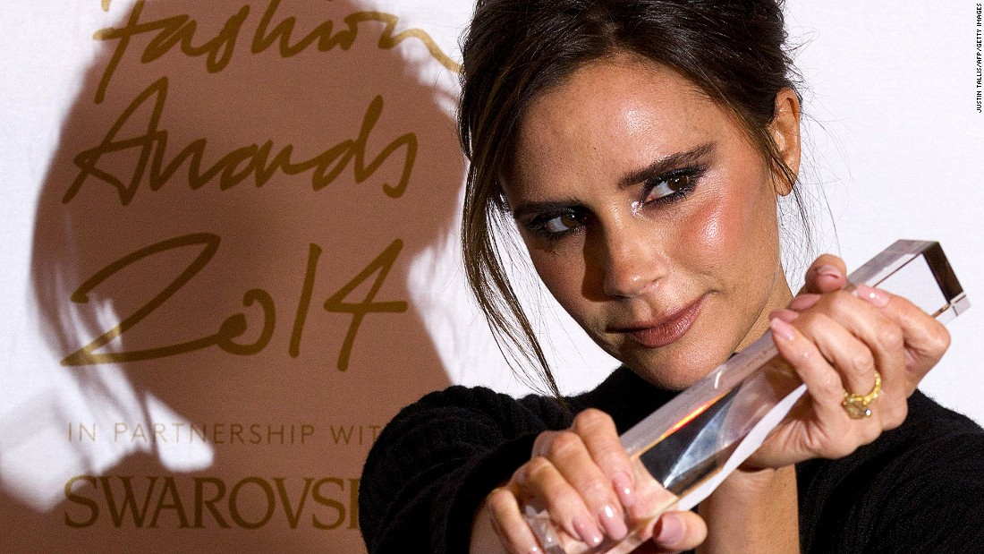 Former Spice Girl Victoria Beckham has been much regaled for her designs. In 2011, she won Designer Brand of the Year at the British Fashion Awards, and won a 'Brand' award in 2014.