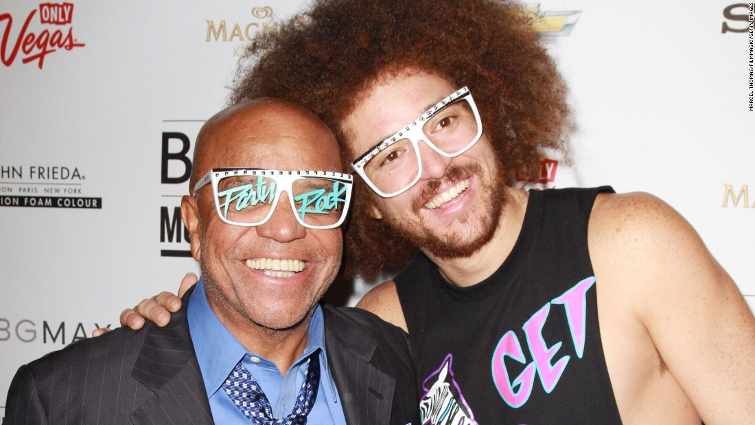 "After founding Motown Records and making it one of the biggest record labels in the world, Berry Gordy settled down from the music business and enjoyed the fruits of his labor.  His son, Stefan Kendal (Redfoo), teamed up with grandson Skyler Austen (SkyBlu, not pictured here) to form the electro-pop duo LMFAO, who've become international sensations with their ""party rock"" dance club anthems."