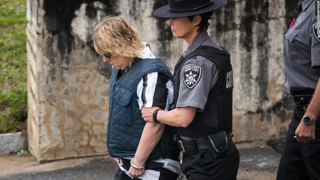 "Joyce Mitchell, a prison worker accused of helping two convicted murderers escape, is led from a Plattsburgh, New York, court after a hearing on Monday, June 15. Mitchell <a href=""http://www.cnn.com/2015/06/13/us/new-york-prison-break/index.html"" target=""_blank"">allegedly provided</a> Richard Matt and David Sweat with the tools they needed <a href=""http://www.cnn.com/2015/06/06/us/gallery/new-york-escapees/index.html"" target=""_blank"">to cut through their cell walls</a> at the Clinton Correctional Facility in Dannemora, New York. She pleaded not guilty."