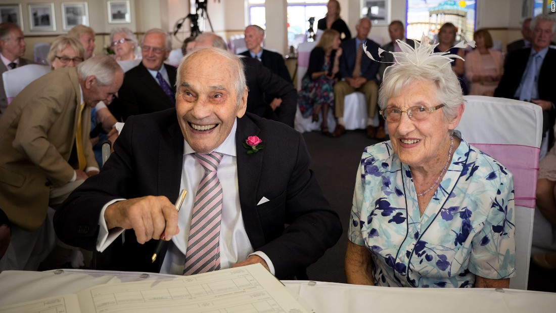 "George Kirby, 103, married Doreen Luckie, 91, in Eastbourne, England, on Saturday, June 13. If <a href=""http://www.cnn.com/2015/06/15/living/oldest-newly-married-couple-guinness-feat/"" target=""_blank"">the wedding </a>is certified by Guinness World Records, the couple will set a new record for oldest couple to marry."