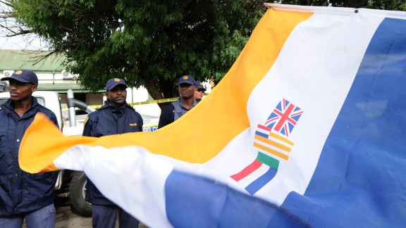 South African flag from apartheid era