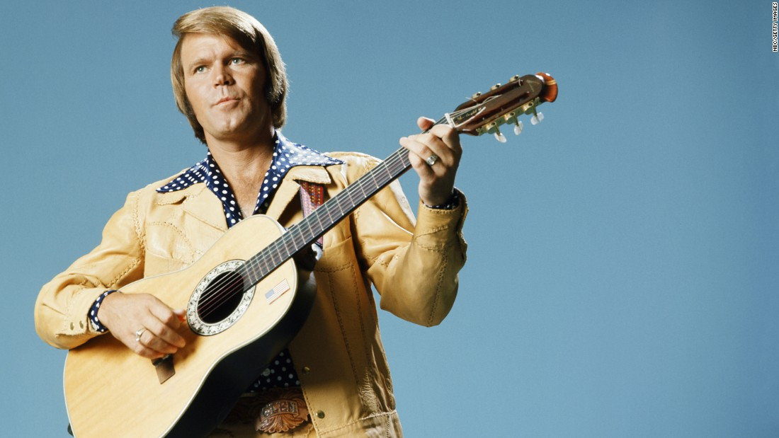 "Glen Campbell, the upbeat guitarist from Delight, Arkansas, whose smooth vocals and down-home manner made him a mainstay of music and television for decades, <a href=""http://www.cnn.com/2017/08/08/entertainment/glen-campbell-dies/index.html"" target=""_blank"">has died after a lengthy battle with Alzheimer's disease,</a> his family announced on Tuesday, August 8. The six-time Grammy Award winner was 81."