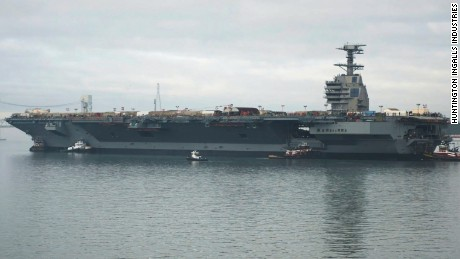 U.S. Navy's new $13B aircraft carrier can't fight
