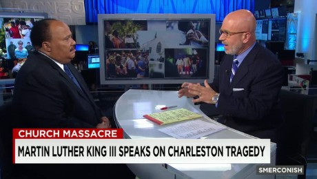 Martin Luther King Jr. III reacts to Charleston