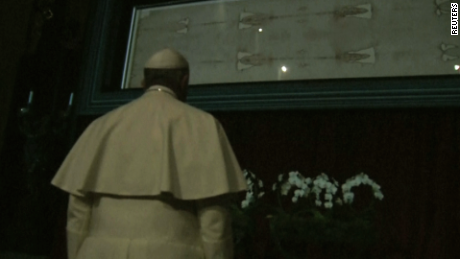 Pope Francis visits Shroud of Turin