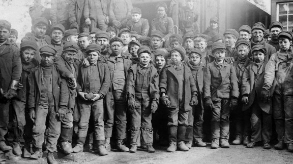 """They point to a 1918 ruling that struck down a federal law banning child labor, which left the practice in place for another two decades. The court said the law was """"repugnant to the Constitution"""" because it violated states' rights. At the time, millions of children worked in dangerous mines, dank sweatshops and textile mills such as this one in Vermont in 1910."""