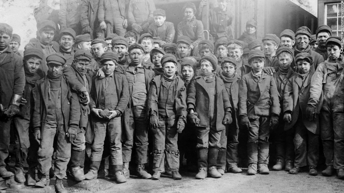 "They point to a 1918 ruling that struck down a federal law banning child labor, which left the practice in place for another two decades. The court said the law was ""repugnant to the Constitution"" because it violated states' rights. At the time, millions of children worked in dangerous mines, dank sweatshops and textile mills such as this one in Vermont in 1910."