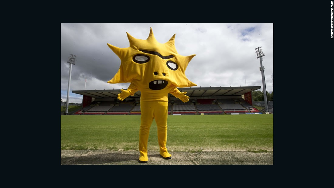 Behold Kingsley, the new mascot unveiled by Scottish soccer team Partick Thistle. His arrival was greeted with a mixture of shock and horror on Twitter, where people compared it to a nightmarish version of the cartoon character Lisa Simpson. But, as these pictures show, it's not the first mascot to give people the willies.