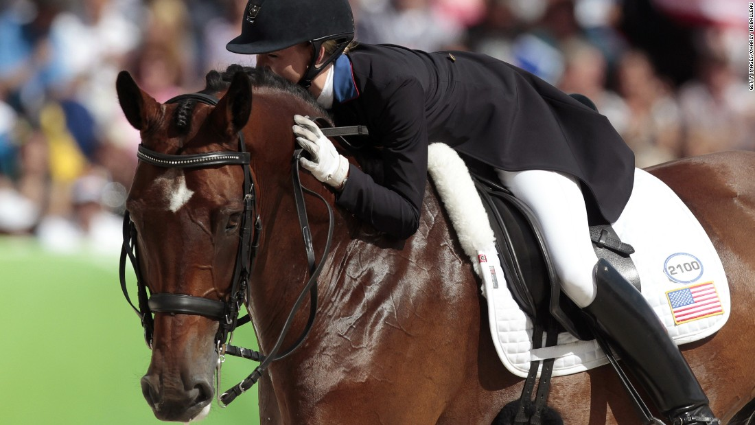 The American abandoned a fledgling career as a hairstylist in 2008 to pursue her dream of competing in dressage with her horse Verdades, who she spotted on a VHS video 13 years ago.
