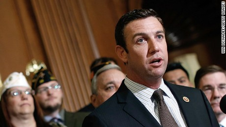 Rep. Duncan Hunter (R-CA) speaks during a news conference held by House Republicans on 'Protecting America's Veterans' at the U.S. Capitol May 29, 2014 in Washington, DC.