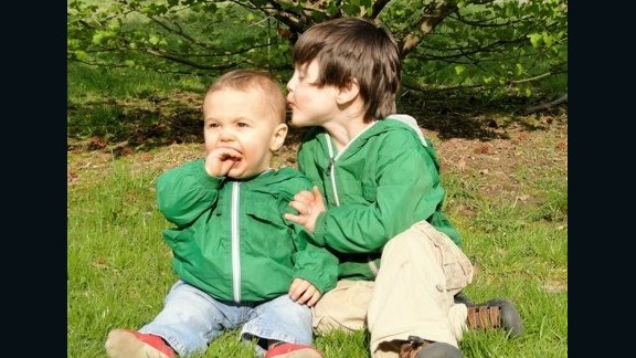 Edison Ruef and his baby brother, Donovan, in 2010. Edison died at age 6 on July 9, 2011.