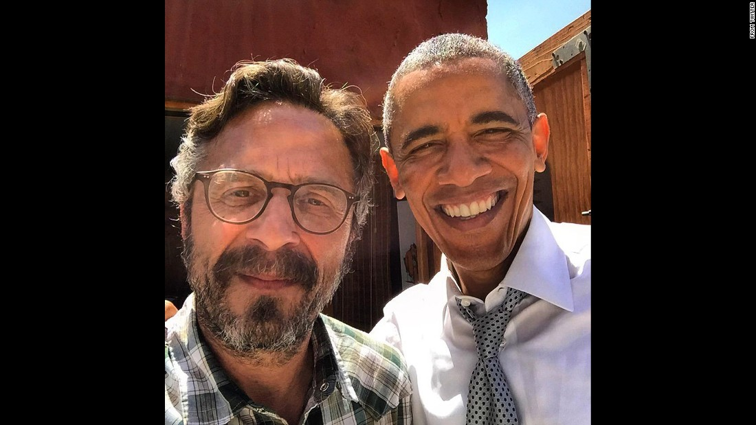 "U.S. President Barack Obama <a href=""https://twitter.com/marcmaron/status/611997157353111552?lang=en"" target=""_blank"">takes a selfie</a> with comedian Marc Maron on Friday, June 19. Maron <a href=""http://potus.wtfpod.com"" target=""_blank"">interviewed Obama</a> for his podcast ""WTF with Marc Maron,"" and the two talked about a variety of topics, including race relations in America. Obama told Maron there has been progress over the last few decades, but <a href=""http://www.cnn.com/2015/06/22/politics/barack-obama-n-word-race-relations-marc-maron-interview/index.html"" target=""_blank"">""racism, we are not cured of it.""</a>"