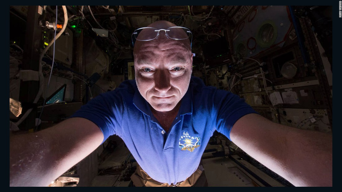 "NASA astronaut Scott Kelly <a href=""https://twitter.com/StationCDRKelly/status/612297716530565120"" target=""_blank"">tweeted this selfie</a> aboard the International Space Station on Saturday, June 20. His face is illuminated <a href=""http://www.cnn.com/2015/06/22/tech/nasa-astronaut-selfie/"" target=""_blank"">by the light reflected from Earth.</a>"