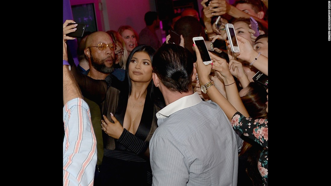 Reality TV star Kylie Jenner attends the opening of a Sugar Factory restaurant in Miami Beach, Florida, on Friday, June 19.