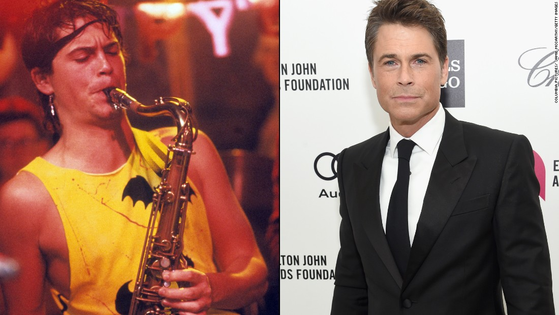 "Rob Lowe still makes hearts throb years after portraying playboy saxophone player  Billy Hicks. Now he's best known for roles on TV shows like ""West Wing"" and ""Parks and Recreation"" as well as side gigs as <a href=""http://money.cnn.com/2015/04/09/media/rob-lowe-directv/"">a pitchman for DirecTV </a>and his own makeup line for men."