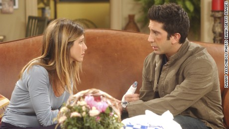 Jennifer Aniston as Rachel Green, David Schwimmer as Dr. Ross Geller