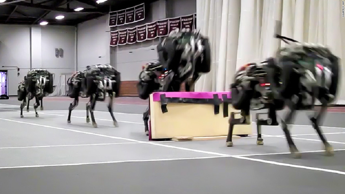 The cheetah is the first four-legged robot to run and jump over obstacles autonomously.