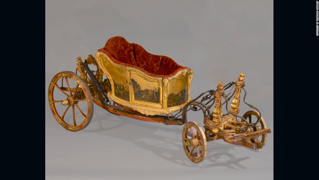 35,000 curators, collectors and art lovers alike flocked to the fair in 2014, eager to check out exceptional works spanning 4,000 years. This four-wheel calèche, a light-weight, horse-drawn carriage, is from the second half of the 18th century and would have been used for a royal child. Offered by the Kraemer Gallery.  <br />