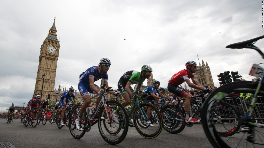 The first three stages of the 2014 event were held in Britain, culminating with the riders speeding through the streets of London.